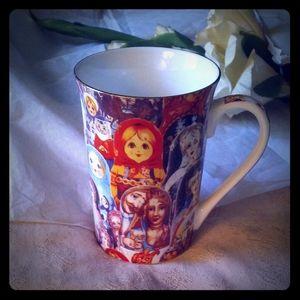 Matreshka Collage Art Porcelain Mug